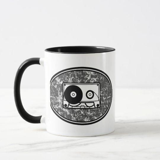 Cassette Tape Black & White Mug