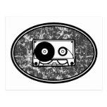 Cassette Tape Black & White Postcard