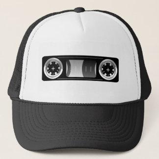 Cassette tape blank label hat