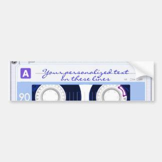 Cassette tape - blue - bumper sticker