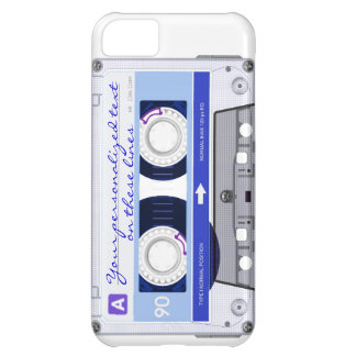 Cassette tape - blue - case for iPhone 5C