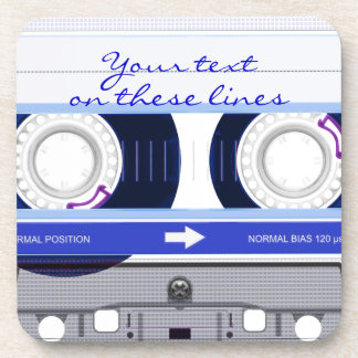 Cassette tape - blue - coaster