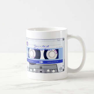 Cassette tape - blue - coffee mug