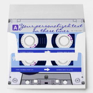Cassette tape - blue - envelope