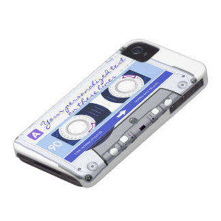Cassette tape - blue - iPhone 4 cover