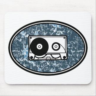 Cassette Tape Blue Mouse Pad