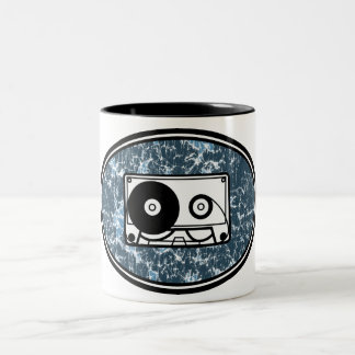 Cassette Tape Blue Coffee Mugs