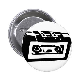 Cassette Tape Button