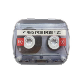 Cassette Tape Candy/Mint Container Jelly Belly Tin