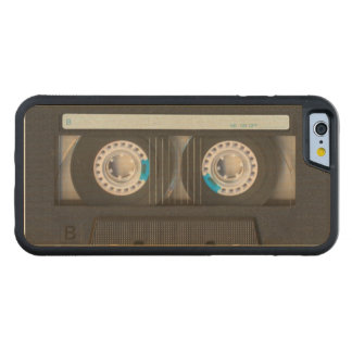 Cassette Tape Carved Maple iPhone 6 Bumper Case