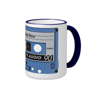 Cassette Tape custom mug - choose style