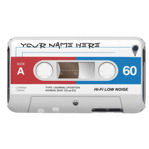 Cassette Tape Customizable iPod Touch Case-Mate Case
