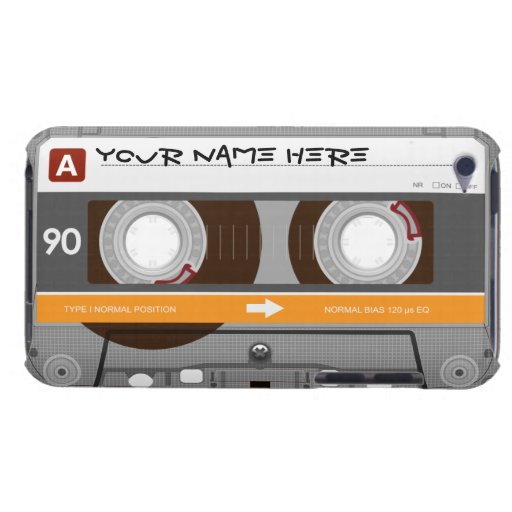Cassette Tape Customizable Barely There iPod Covers