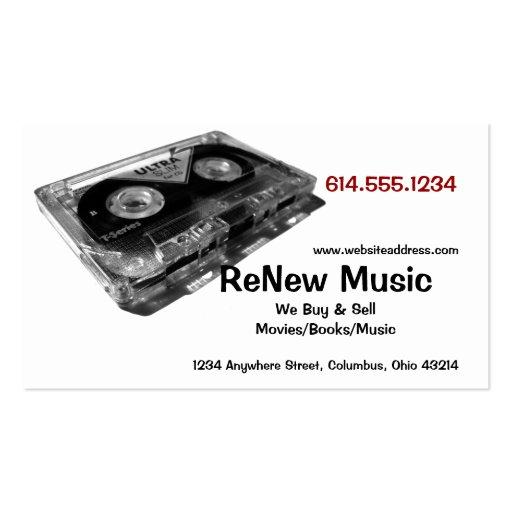 cassette tape design 1 music business card zazzle. Black Bedroom Furniture Sets. Home Design Ideas