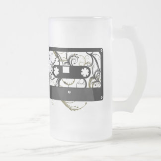Cassette Tape Frosted Glass Beer Mug