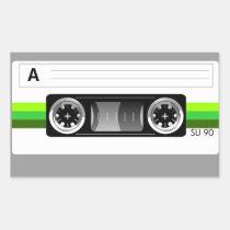 artsprojekt, music, cassette, tape, cassette tape skin, retro, old school, audio, Sticker with custom graphic design