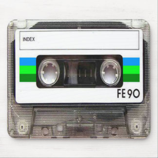 Cassette Tape Green Mouse Pad