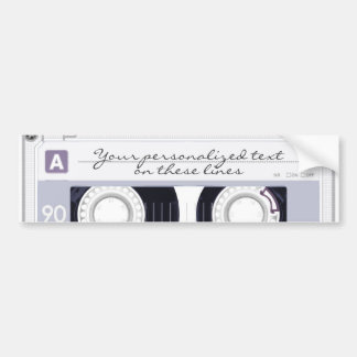 Cassette tape - grey - bumper sticker