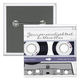Cassette tape - grey - button