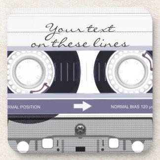 Cassette tape - grey - coaster