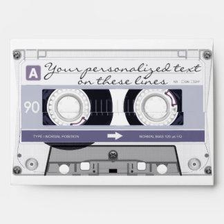 Cassette tape - grey - envelope