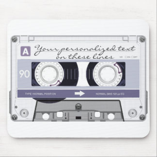 Cassette tape - grey - mouse pad