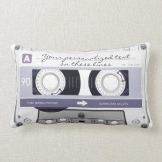 Cassette tape - grey - throw pillows
