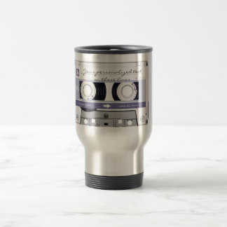 Cassette tape - grey - travel mug