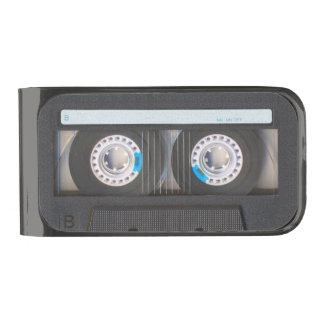 Cassette Tape Gunmetal Finish Money Clip