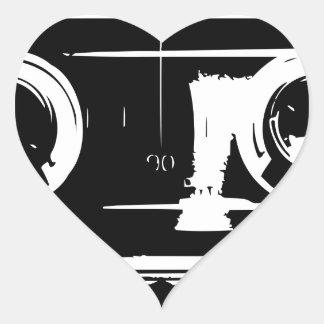 Cassette Tape Heart Sticker