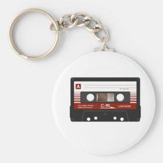 Cassette Tape Basic Round Button Keychain