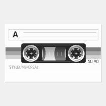 artsprojekt, cassette, tape, music, audio, recording, retro, Sticker with custom graphic design