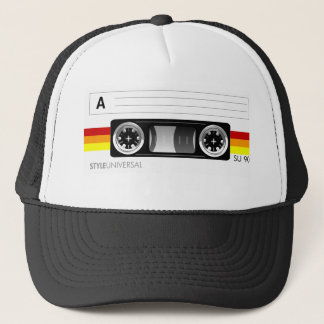 Cassette tape label hat