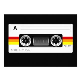 cassette tape label invitation