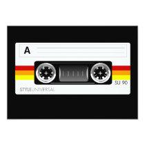 artsprojekt, music, cassette, tape, cassette tape skin, retro, old school, audio, vector, Convite com design gráfico personalizado