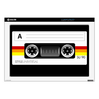 Cassette tape label laptop skin