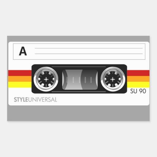 Cassette tape label sticker