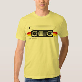 Cassette tape label t-shirt