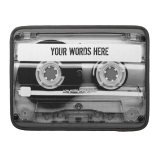 Cassette Tape Mixtape MacBook Sleeve Sleeves For MacBook Pro