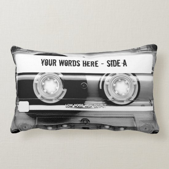 Cassette Tape Mixtape (personalized) Lumbar Pillow
