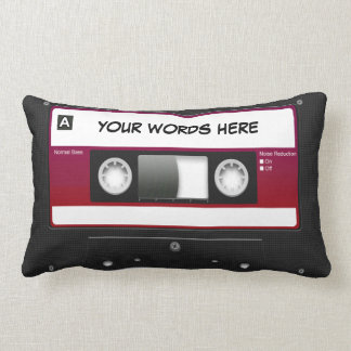 Cassette Tape Mixtape (personalized) Lumbar Pillow