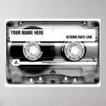 Cassette Tape Mixtape Poster Print