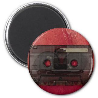 Cassette tape music vintage red magnet