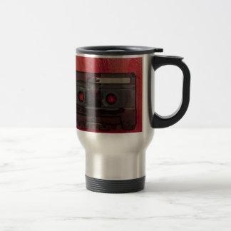 Cassette tape music vintage red travel mug