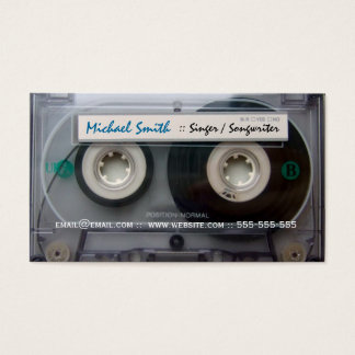 Cassette Tape Musician Business Cards