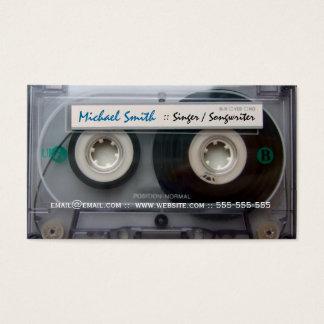Cassette Tape Musician Business Cards