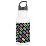 Cassette Tape Pattern 18oz Water Bottle