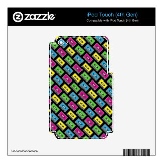 Cassette Tape Pattern Decals For iPod Touch 4G