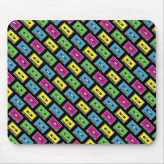 Cassette Tape Pattern Mouse Pad