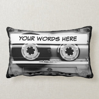 Cassette Tape Personalized Throw Pillows